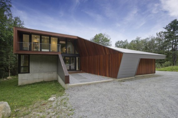 Façade nord - Berkshire Pond House par David Jay Weiner USA
