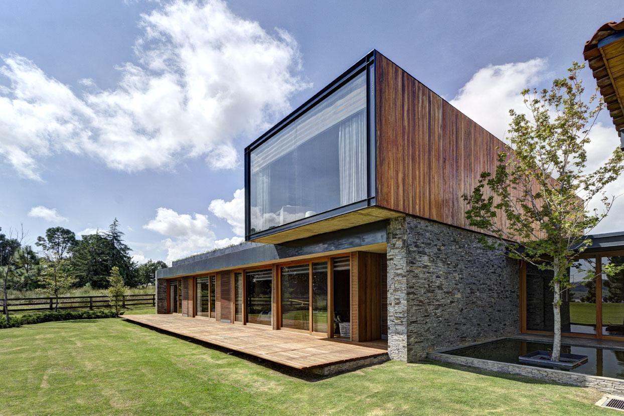 maison contemporaine casa vr mixte bois et pierre par el as rizo arquitectos tapalta au. Black Bedroom Furniture Sets. Home Design Ideas
