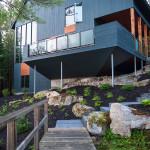 Façade terrasse - maison bois - Anik Pelockuin - Messines - Canada