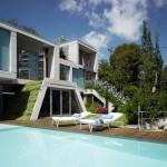 façade arrière - terrasse - piscine - The Garden House - Joaquín Alvado Bañón - Alicante Espagne