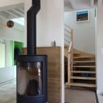 Pôele à bois et escalier - Maison Bois - Patrice Bideau - St Goustan - -France