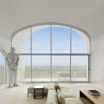 salon - baie vitrée -Vault House - Johnston-Marklee - USA