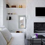 salon cheminée - Eagles-Nest- Sinas Architects -Serifos - Grèce - Nikos Stefani