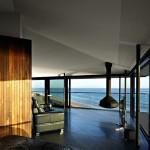 salon et cheminée - Bluewave- F2 architecture - Australie