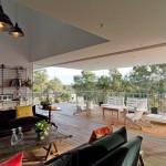 salon - terrasse - Domaine des Vautes - Frédérick Jauvion - Montpellier - France