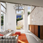 Salon vue terrasse - Honiton Residence - MCK Architects - Australie