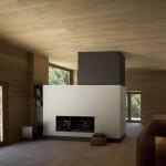 séjour et cheminée - rénovation - maison traditionnelle - El Bosquet  - espagne - photos Aleix Bagué