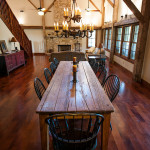 Table rustique - séjour - Rénovation Maison - Barn Heritage - Fultonville - USA