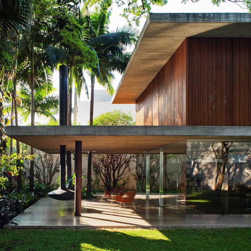 toblerone house de studio mk27 s o paulo brazil construire tendance. Black Bedroom Furniture Sets. Home Design Ideas