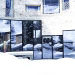 villa vals mountain courtyard - seach et CMA - façade enneigée