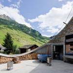 villa vals mountain courtyard - seach et CMA - terrasse
