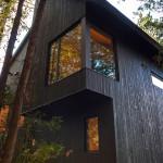 vue extérieur bardage bois - maison bois - Anik Pelockuin - Messines - Canada
