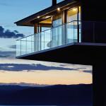 vue extérieure nuit terrasse - Bluewave- F2 architecture - Australie