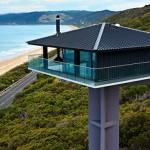 vue extérieure sur pilotis - Bluewave- F2 architecture - Australie