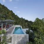 vue piscine et pièce de vue côté - the-naked-house - marc gerritsen - thaïlande
