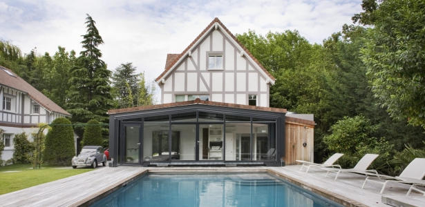 Extension et r novation maison traditionnelle par olivier chabaud architecte villennes - Maison ancienne renovee olivier chabaud ...