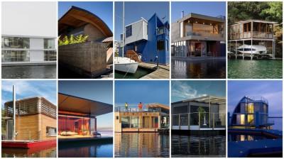 10 maisons flottantes