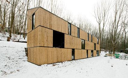 Maison bois bambou par ast 77 architecten rotselaar for Construire maison 77