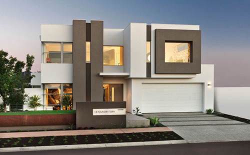 The rubix dream home par webb brown neaves perth for Disenos minimalistas frentes casas