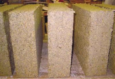 blocs de béton de chanvre - Hempcrete