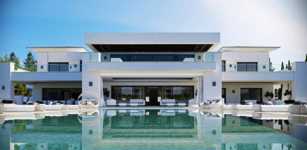 Luxueuse villa par ark architects san roque espagne for 9 bedroom house for sale