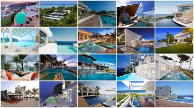 20 villas avec piscine et vue sur mer