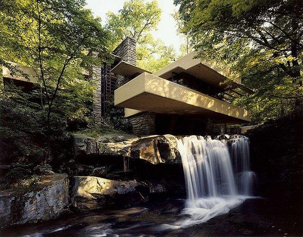 Falling Water, la maison cascade par Frank-Lloyd-Wright