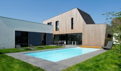 Maison bois béton par Ideaa architectures - Colmar, France - Photo  Alain-Marc Oberlé