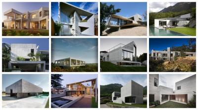 12 maisons contemporaines en béton