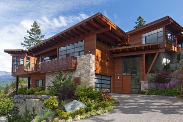 Awesome Impériale Maison Bois Et Pierre Contemporaine Face Aux Lac Et Montagnes  Canadiennes