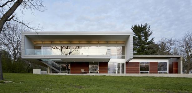 Riverview house par studio dwell architects wayne usa construire tendance - Maison bois americaine ...