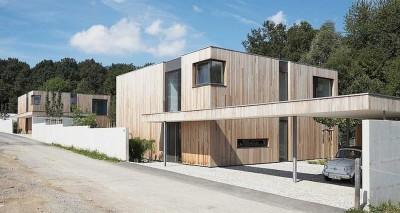 Maisons bois contemporaines par Zamel Krug Architekten - Hagen, Allemagne