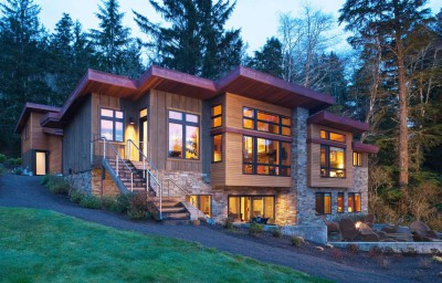 maison bois, maison pierre et bois, maison contemporaine, maison bois contemporaine, Nathan Good Architects, Usa