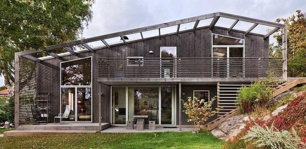 Green bean house par arctic studio onsala su de for Maison toit vegetal