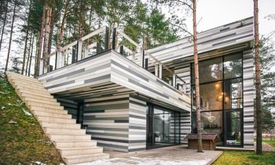 Maison contemporaine par GYZA - Vinius, Lituanie