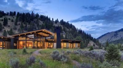 River Bank house par Balance Associates Architects - Big Sky, Montana, Usa