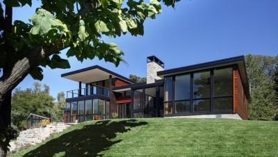 Rock River House par Bruns Architecture - Rockton, Usa