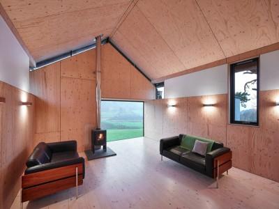 Salon & Cheminée - maison typique par WT Architecture - Biggar, Royaume-Uni