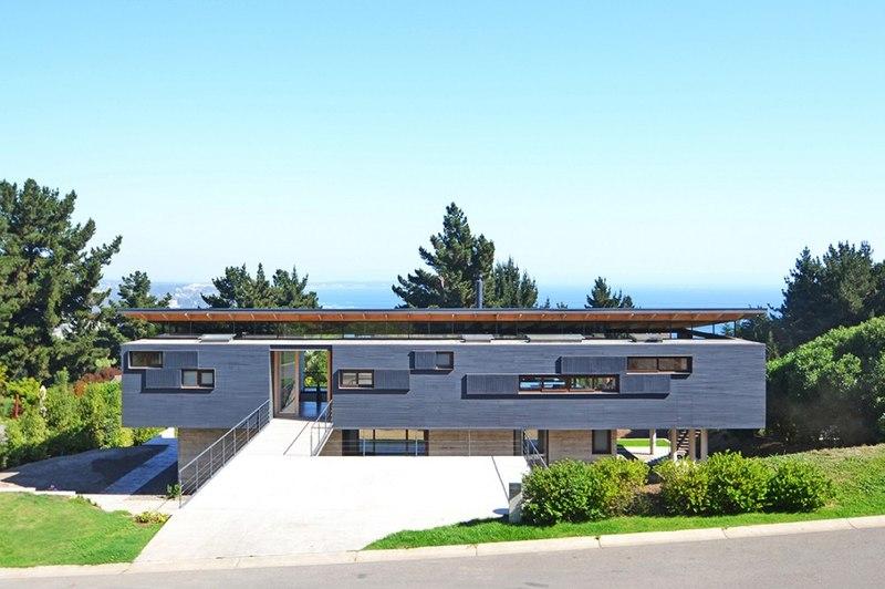 Vue Panoramique - House Cs par Alvaro Arancibia - Cachagua, Chili