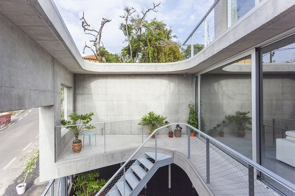 balcon & rue - g-house par Esau Acosta - El Sauzal, Espagne