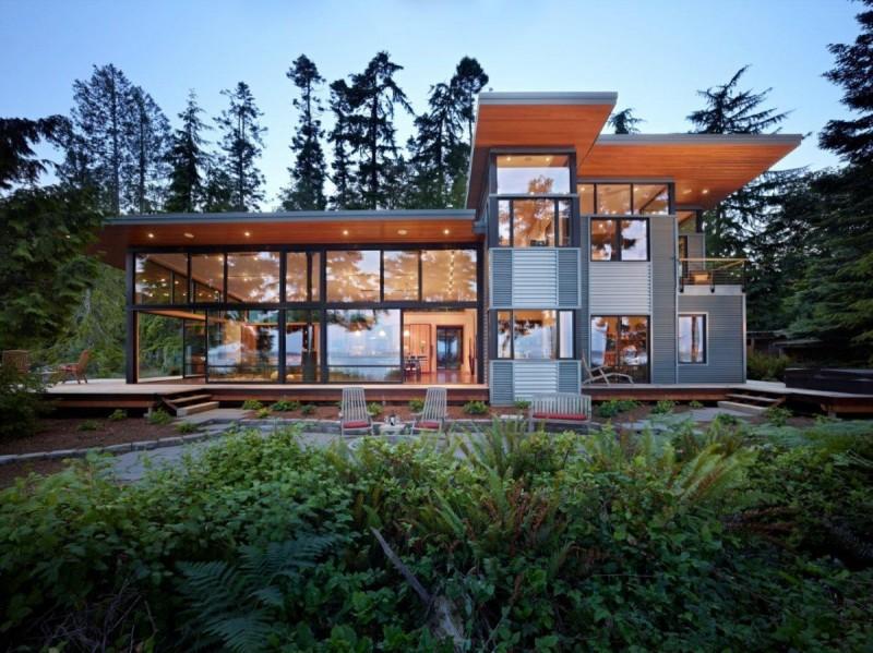 Belle maison avec façade vitrée aux USA | Construire Tendance