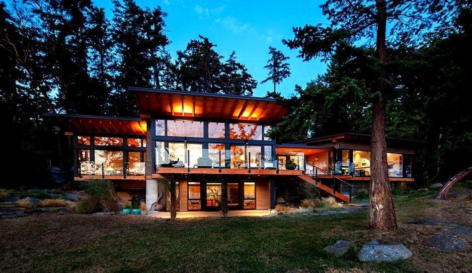 Maison contemporaine en bois au Canada   Construire Tendance