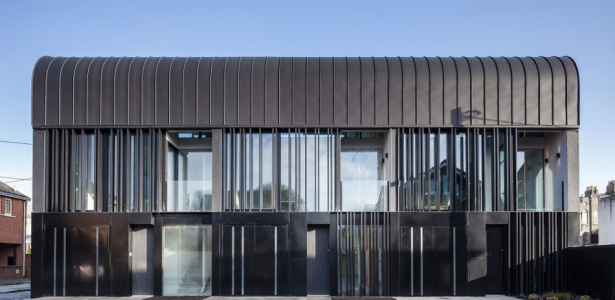 Maison contemporaine en forme courbe en irlande Architecture courbe