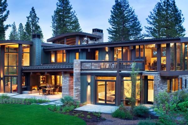 maison bois et pierre