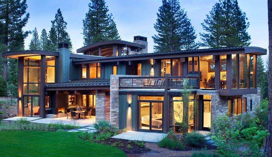 Atypique maison en bois et pierre en Californie aux USA ...