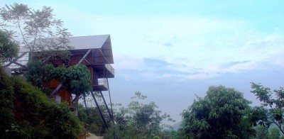 barre d'acier oblique - bungalow par narein-perera - Matugama, Sri Lanka