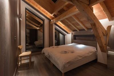 chambre - chalet-dag par Chevalier Architectes - Chamonix, France