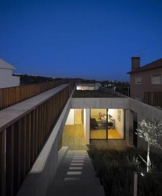 entrée illuminée - house-caxias par António Costa Lima Arquitectos - Caxias, Portugal