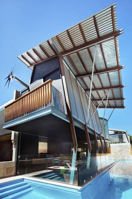 façade piscine - maison exclusive par CplusC - Waverley, Australie