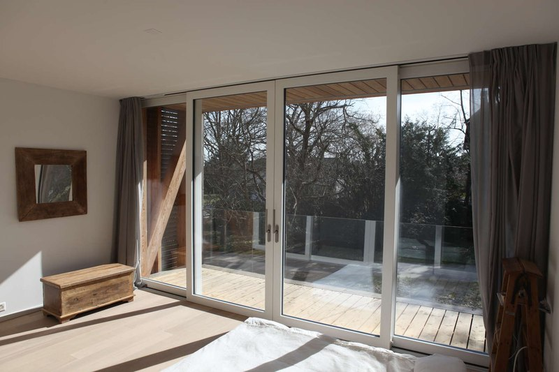 grande porte baie vitrée - during-tannay par Christian Von During Architects - Tannay, Suisse